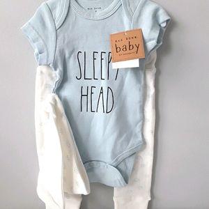 NWT Rae Dunn Baby boy 3pc outfit 6-9 mos